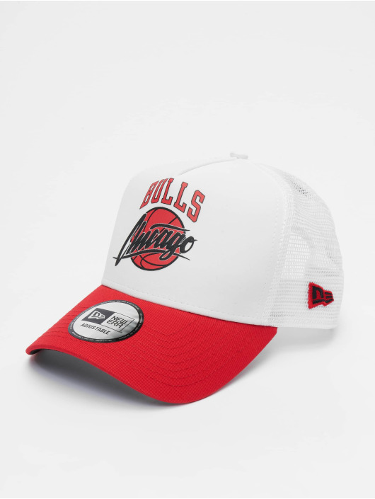 New Era Trucker Caps NBA Chicago Bulls Neoprene 9forty A-Frame bialy