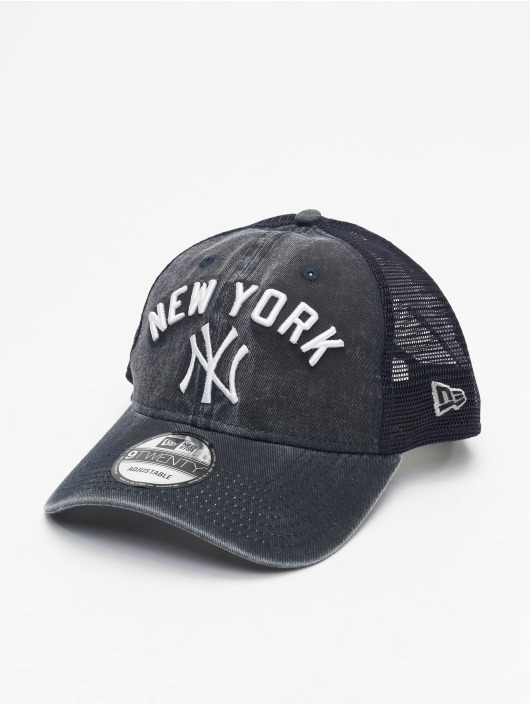 New Era Trucker Caps MLB NY Yankees Rugged Team blå