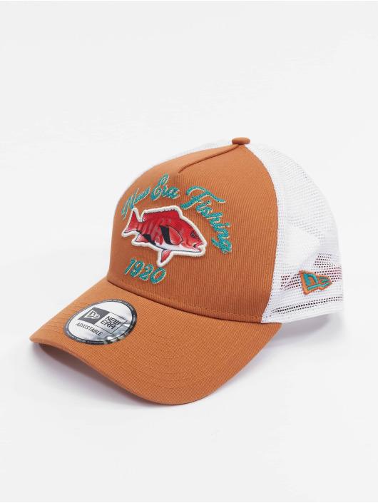 New Era Trucker Caps New Era Branded None Ne Fishing brazowy