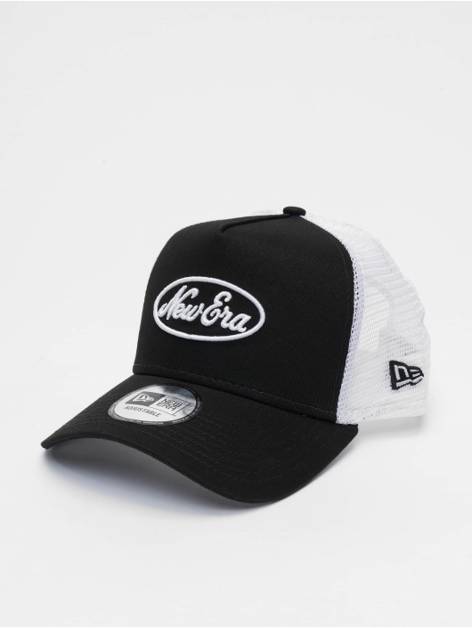 New Era Trucker Caps Oval Script 9forty A-Frame czarny