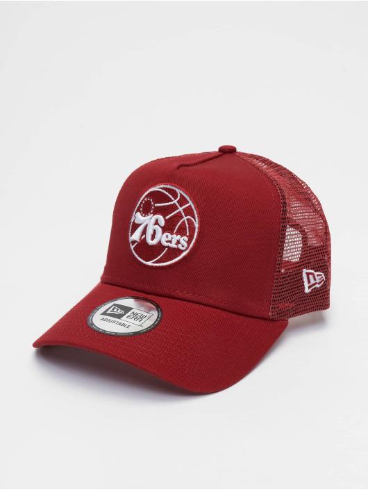 New Era Trucker Caps NBA Philadelphia 76ers Essential 9forty A-Frame czerwony
