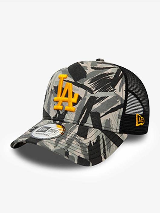 New Era Trucker Caps MLB Los Angeles Dodgers Seasonal Camo 9Forty AF grå