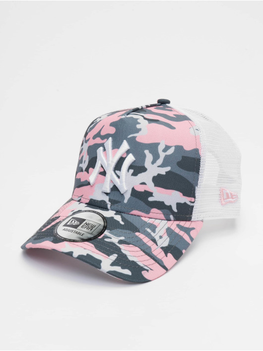 New Era Trucker Caps MLB New York Yankees Camo 9forty A-Frame pink