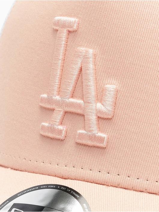 New Era Trucker Caps MLB LA Dodgers League Essential A-Frame rosa