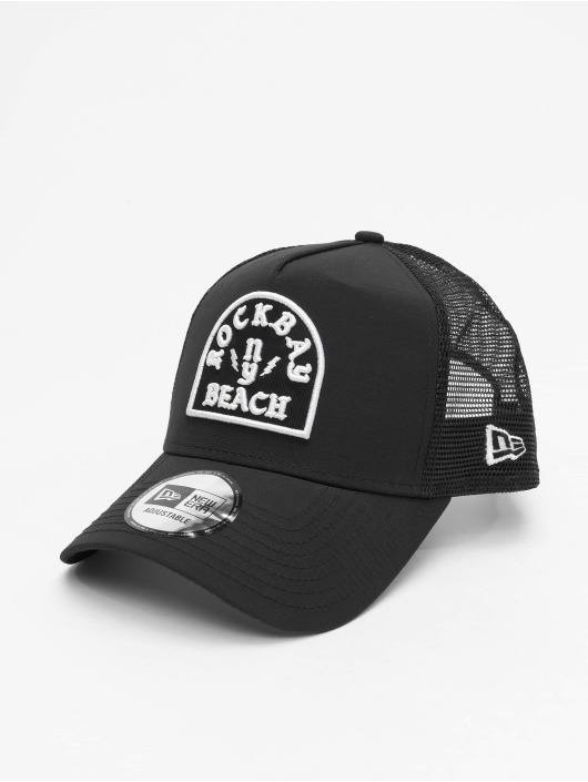 New Era Trucker Caps Rockbay Beach svart