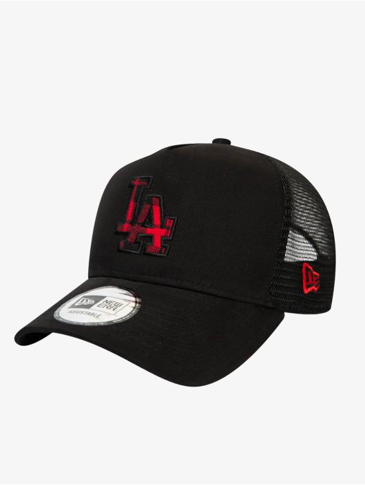New Era Trucker Caps MLB Los Angeles Dodgers Check Infill 9Forty AF svart