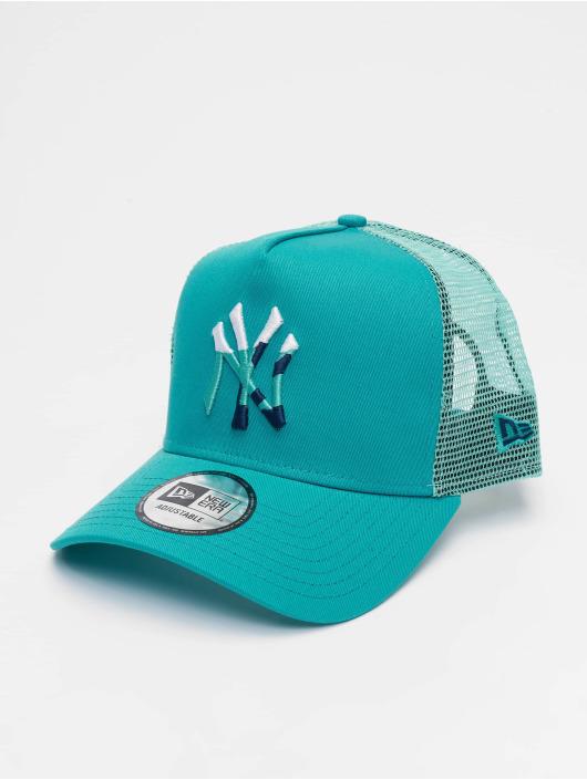 New Era Trucker Caps MLB New York Yankees Camo Infill 9forty A-Frame turkusowy
