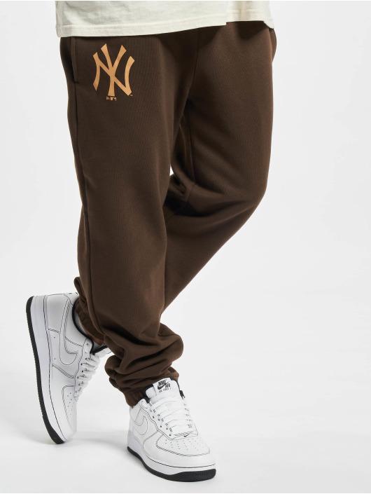 New Era Verryttelyhousut MLB NY Yankees Seasonal Logo Relaxed ruskea