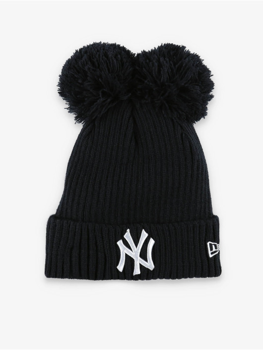 New Era Winter Bonnet MLB NY Yankees Double Pom Cuff blue