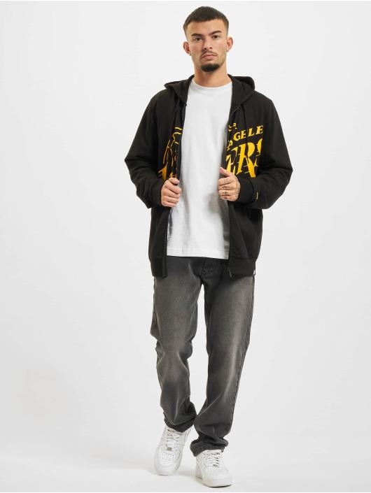 New Era Zip Hoodie NBA Los Angeles Lakers Enlarged Logo черный