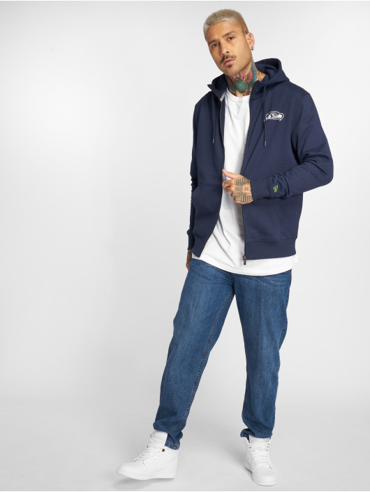 New Era Zip Hoodie NFL Team Seattle Seahawks modrá