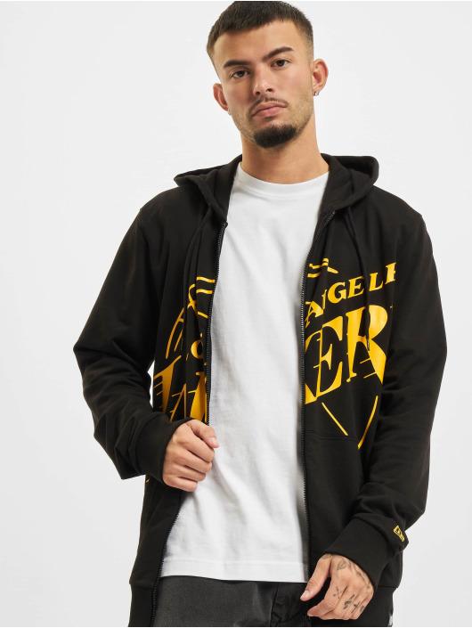 New Era Zip Hoodie NBA Los Angeles Lakers Enlarged Logo schwarz