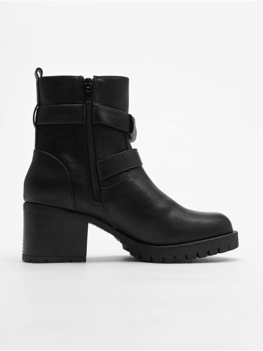 New Look Čižmy/Boots Bertie Buckle Strap Biker èierna
