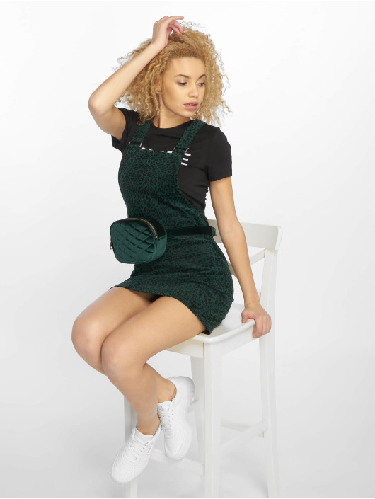 New Look Šaty Jamie Animal Cord zelená