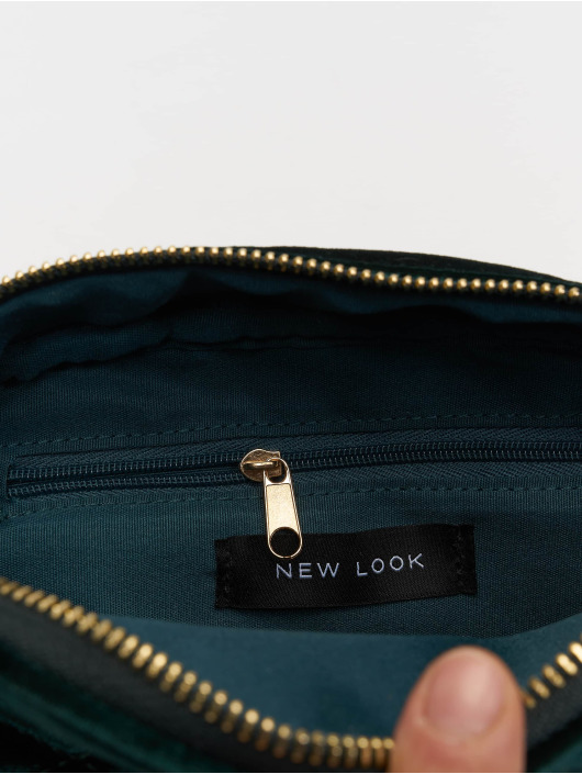 New Look Bag Velvet Bum green