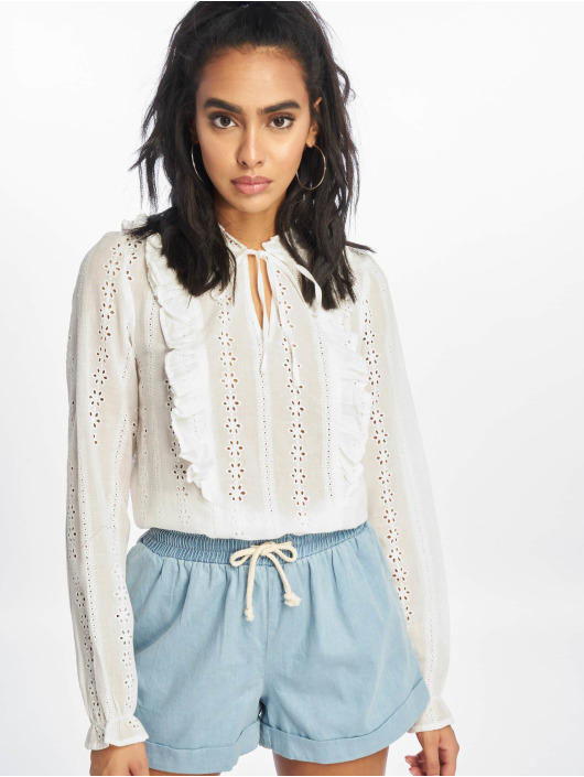 New Look Blouse/Tunic F Claire Cutwork white