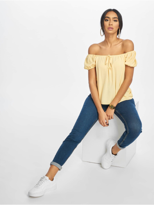 New Look Bluse T Tilly Tie Front Square Neck gelb