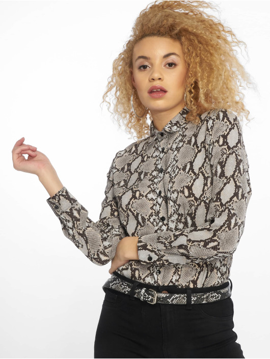 New Look Bluse Oslo Animal Print LI grau