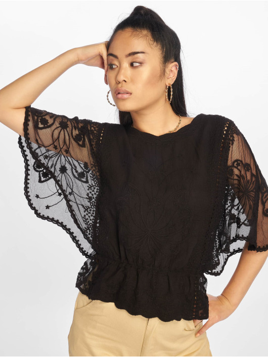 New Look Bluse F Emily Emb Crochet schwarz
