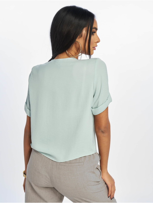 New Look Bluse Penny Button Thru türkis