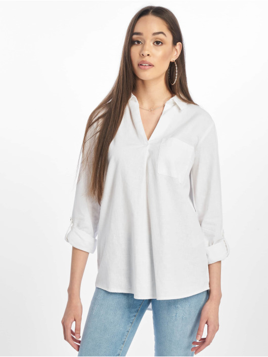 New Look Bluse T Lucy Linen Ellie Oh weiß