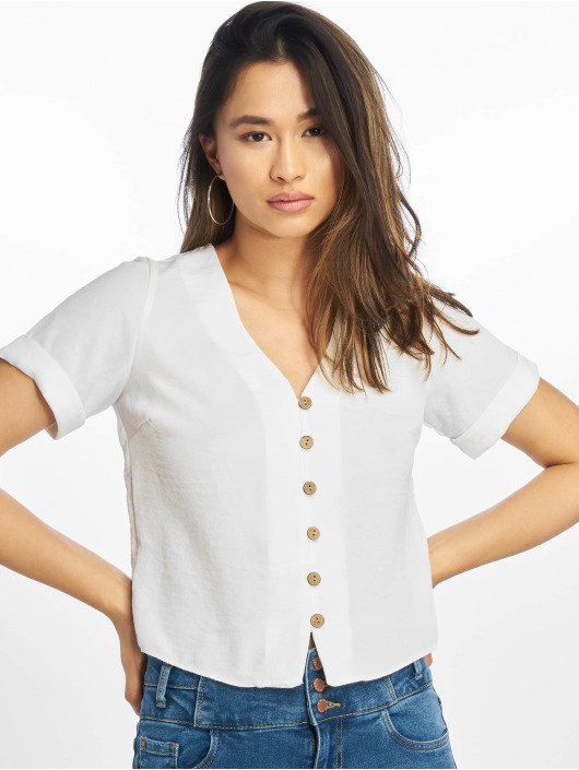 New Look Bluse Penny Button Thru weiß