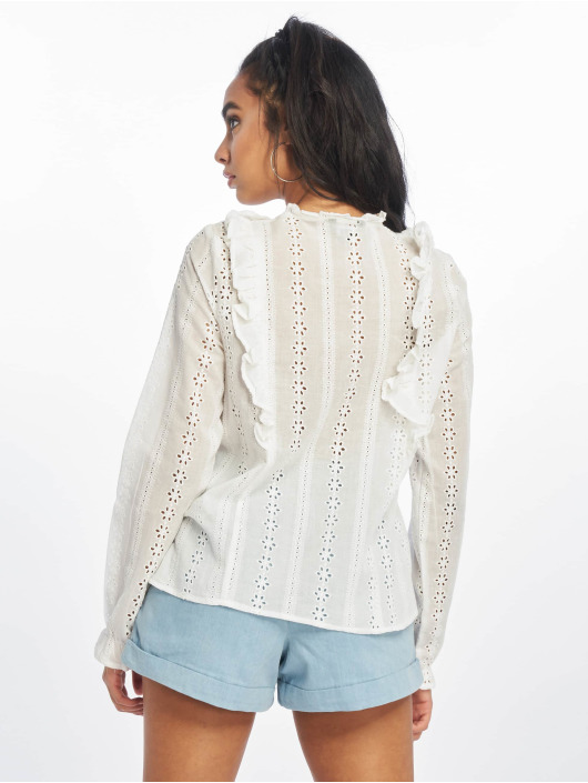 New Look Bluse F Claire Cutwork weiß