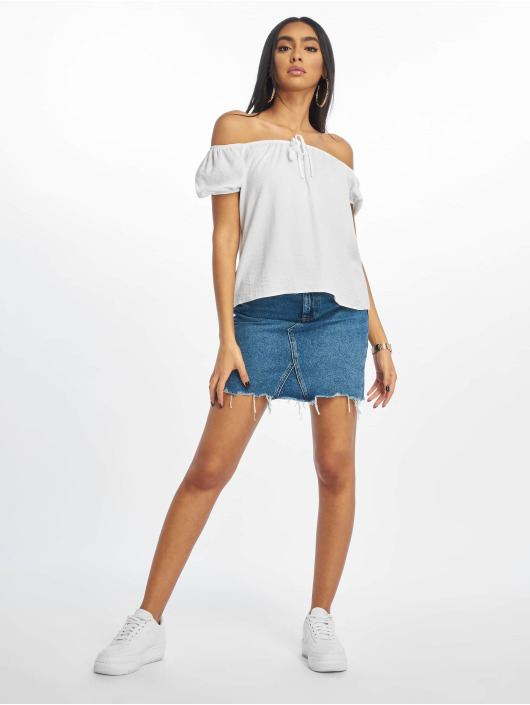 New Look Bluse T Tilly Tie Front weiß
