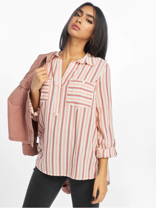 New Look Bluser/Tunikaer F Ricky Stripe 2 Pocket rosa