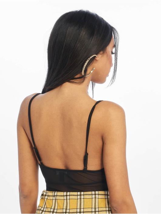 New Look Body Go T Mesh Strappy noir