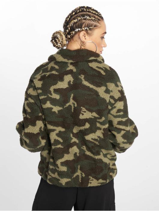 New Look Bomber jacket Camo Teddy Borg green