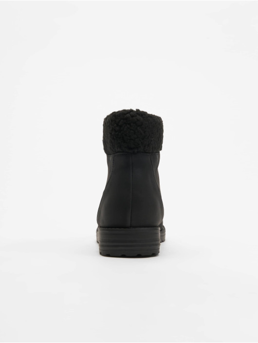 New Look Boots Barber Shearling Cuff black
