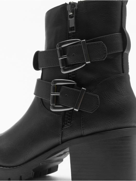 New Look Boots Bertie Buckle Strap Biker schwarz