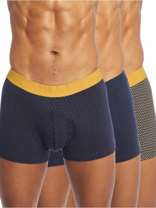 New Look Boxer Short 3PK Mustard Navy Spot blue