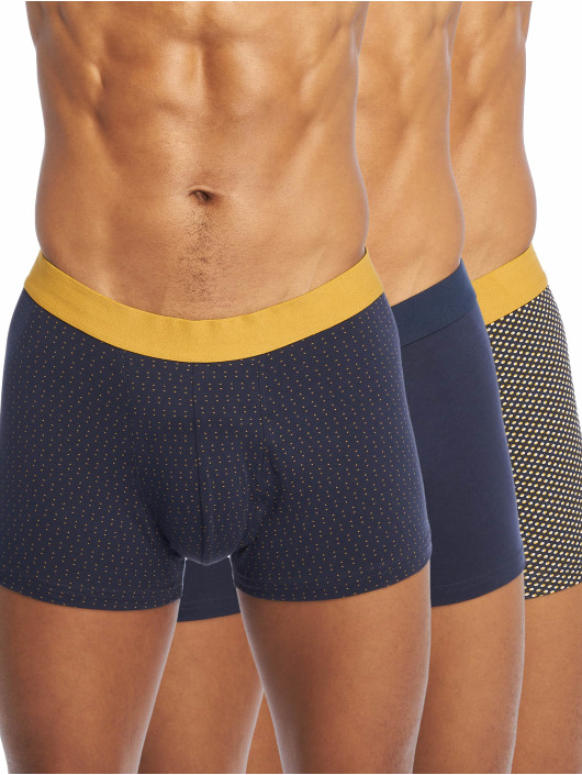 New Look Boxershorts 3PK Mustard Navy Spot blau