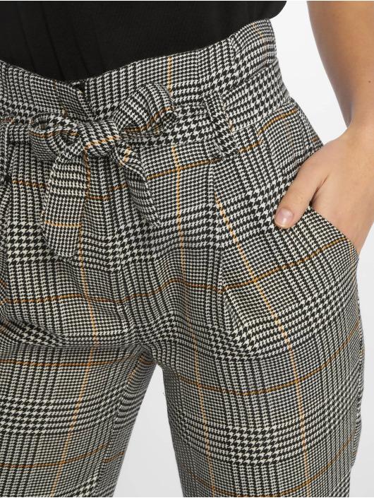 New Look Chino Rome Check Tie Waist grijs