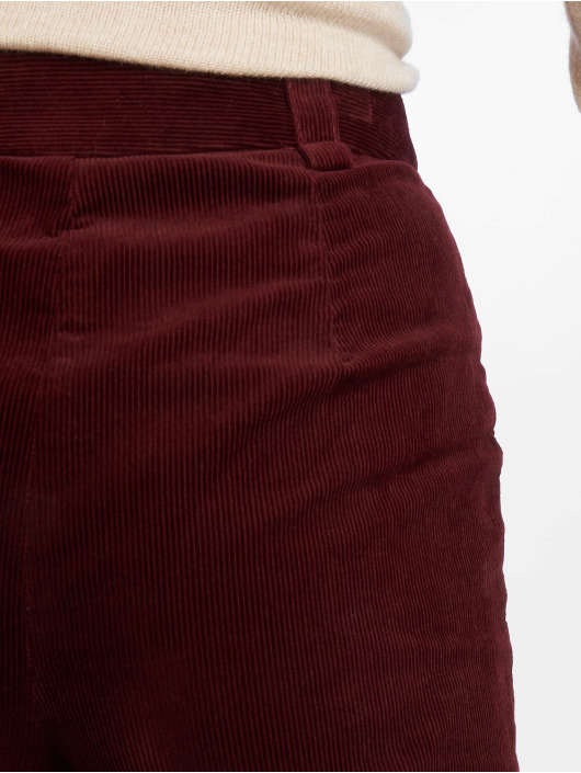 New Look Chino Cord Crop rood