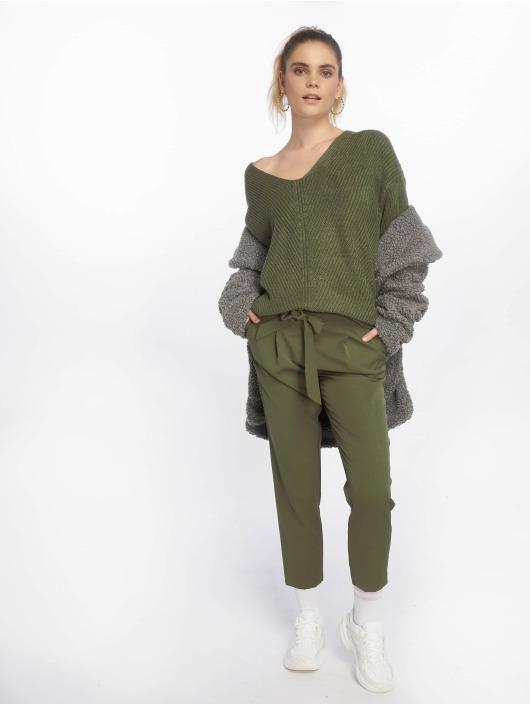 New Look Chinot/Kangashousut Miller Tie oliivi