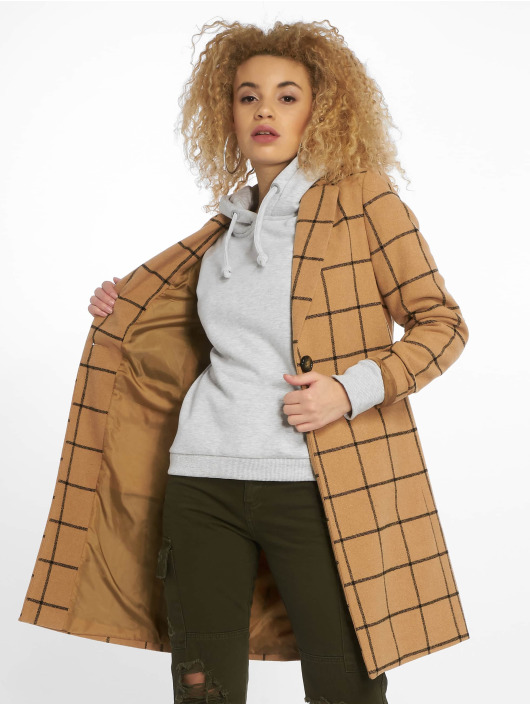 New Look Coats Window 23 Grid Check beige