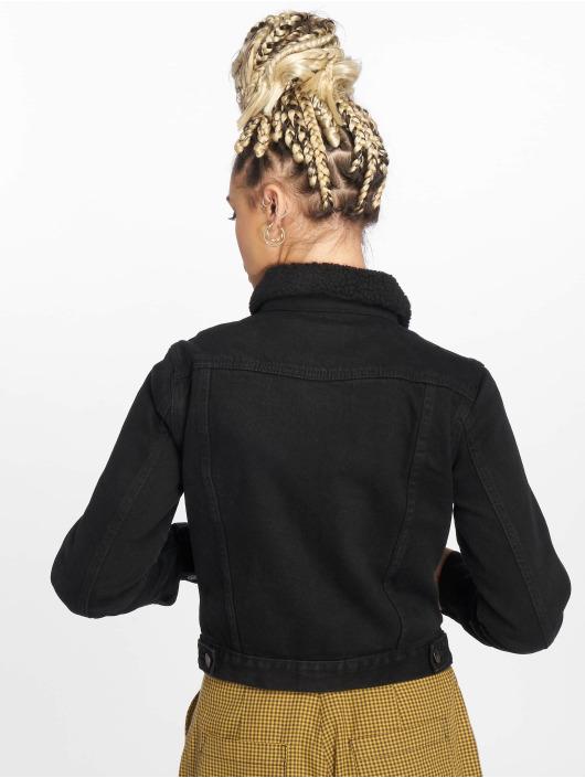 New Look Denim Jacket LI Borg black