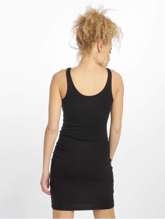 New Look Dress EC Plain Rib S/Less black