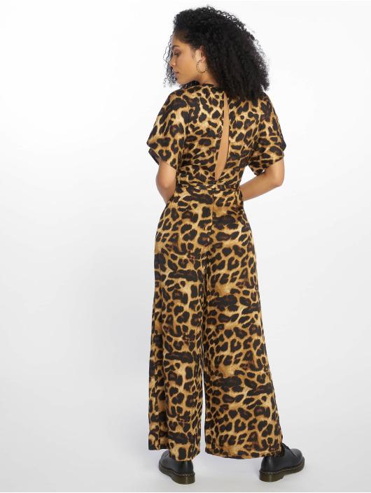New Look Haalarit ja jumpsuitit Go Leopard Satin Kimono ruskea