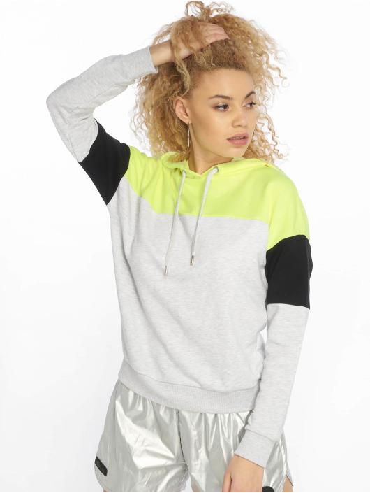 New Look Hoodie Colourblock Straight grey