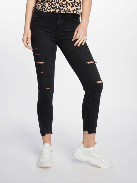 New Look Jean skinny Schwarz Ext Rip noir
