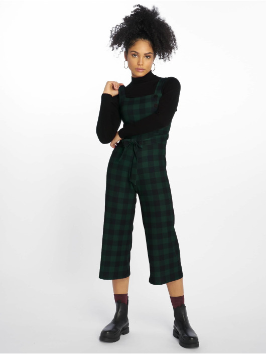 New Look jumpsuit Scuba Crepe Check groen
