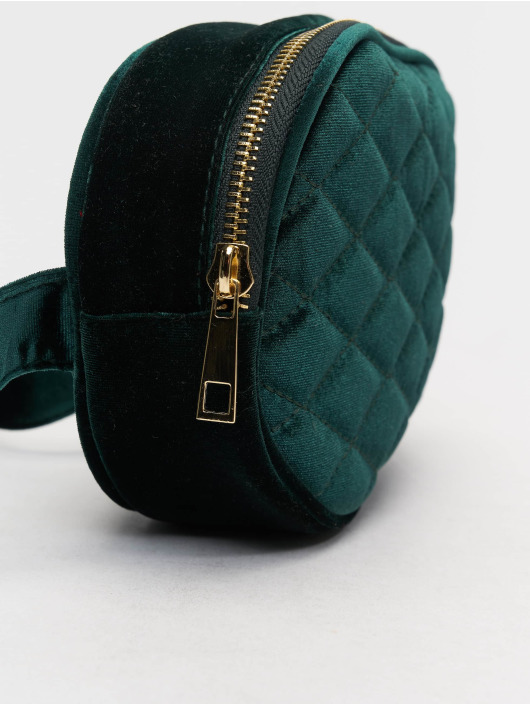 New Look Kabelky Velvet Bum zelená