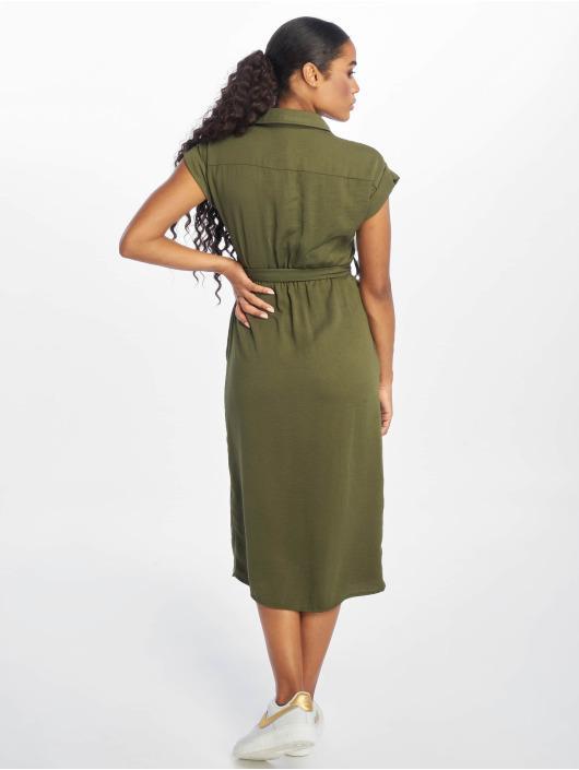 New Look Kleid Tim Shortsleeve Midi olive