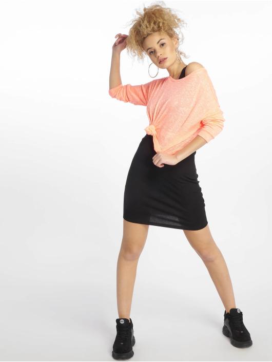 New Look Kleid EC Plain Rib S/Less schwarz