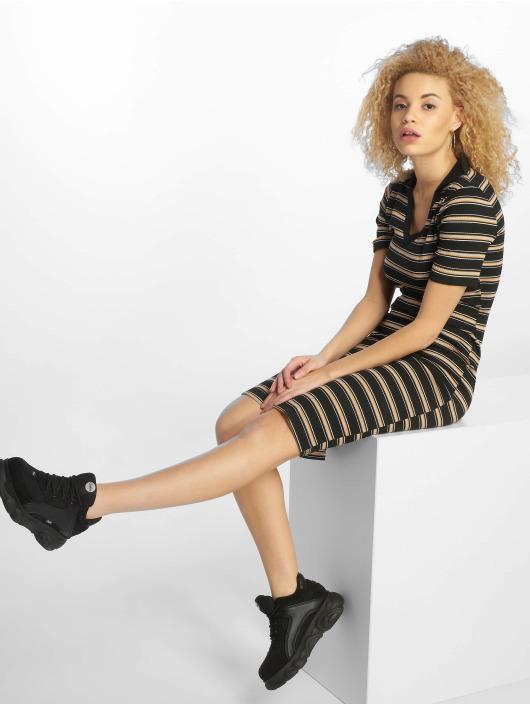 New Look Kleid EC Stripe Rib Jersey schwarz