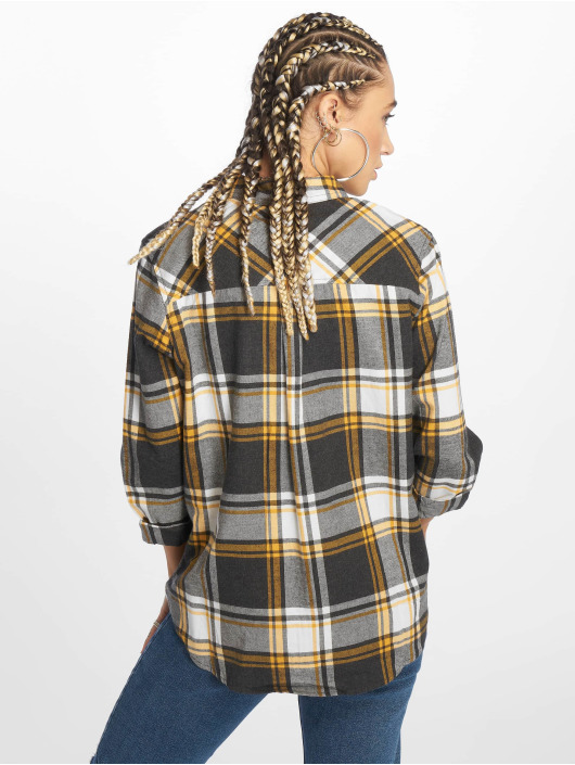 New Look Košele LI Grey Stanley Check šedá